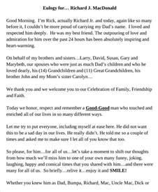 how to write a eulogy template 10 eulogy exles free premium templates