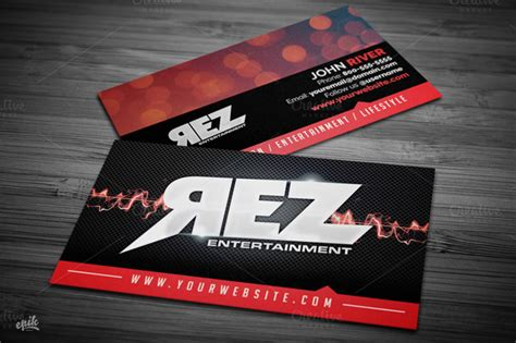entertainment business cards templates 15 rocking template for business cards