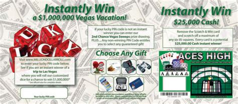 Our Instant Win - instant win promotional packages travel incentive packages key mailers keymailer