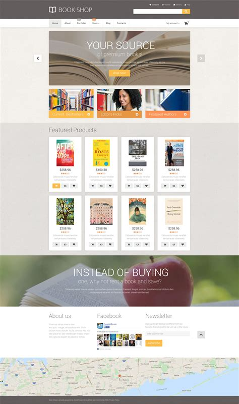 html zoom in layout book store woocommerce template