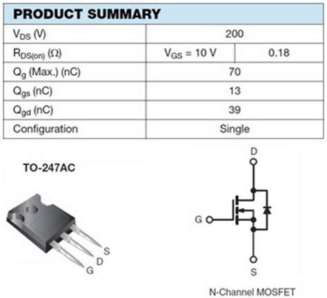 mosfet transistor tutorial pdf irfp240 sihfp240 datasheet pdf power mosfet