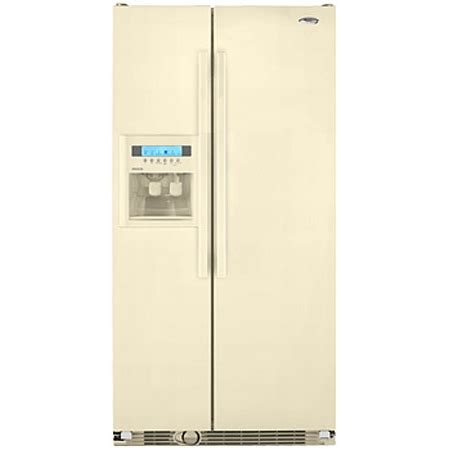 Whirlpool Cabinet Depth Refrigerator by Whirlpool Bisque Side By Side Counter Depth Refrigerator