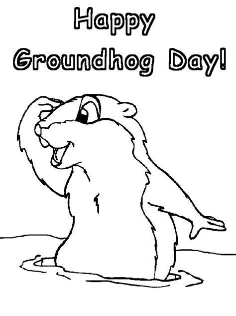 Groundhog Day Coloring Page groundhog s day coloring pages gt gt disney coloring pages