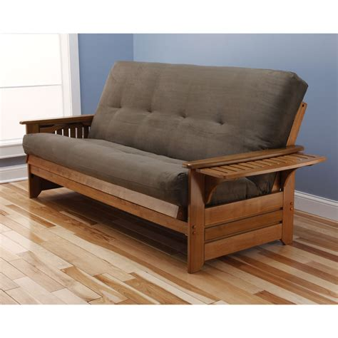 Somette Ali Phonics Honey Oak Full Size Futon Set With Futon Bed
