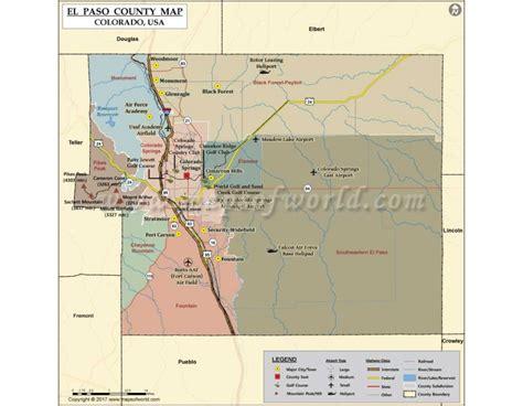 El Paso County Colorado Records Buy El Paso County Map Colorado