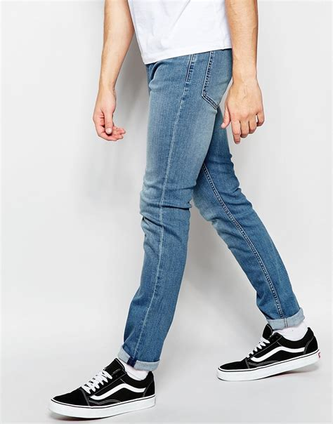 Cheap Monday Bio Wash Retro Celana Skiny cheap monday tight stretch fit blue wave light vintage wash in blue for lyst