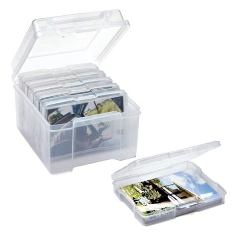 photo storage box storage solutions photo keeper clear box with 6 clear photo cases