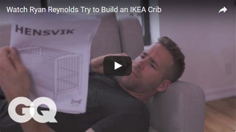 ryan reynolds ikea ryan reynolds loses his mind trying to assemble an ikea crib