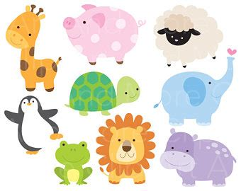 cartoon forest animals giraffe pattern baby girl clothes a lion clipart etsy