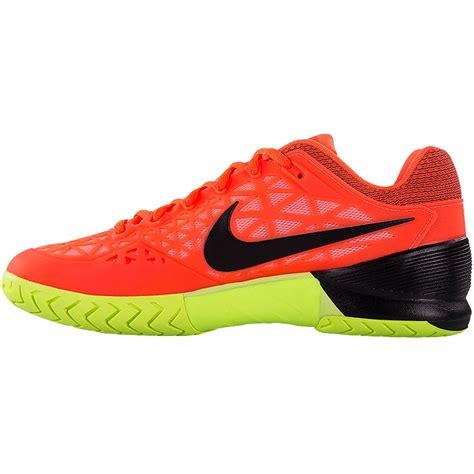 nike zoom cage 2 cage s tennis shoe orange black