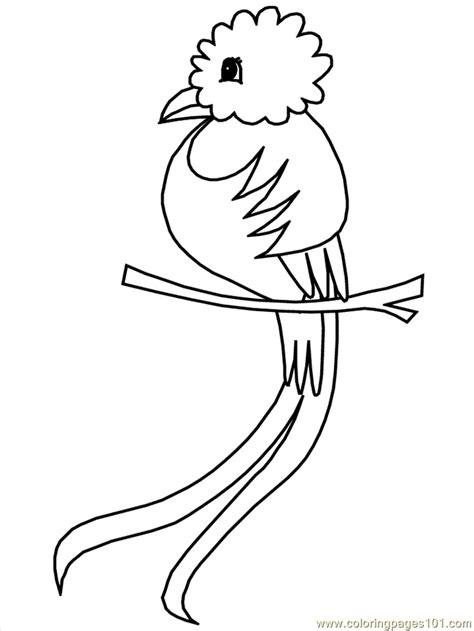 Coloring Page Quetzal   quetzal coloring page az coloring pages