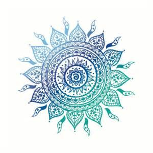 Owl Wall Art Stickers quot blue gradient mandala quot art prints by adjsr redbubble