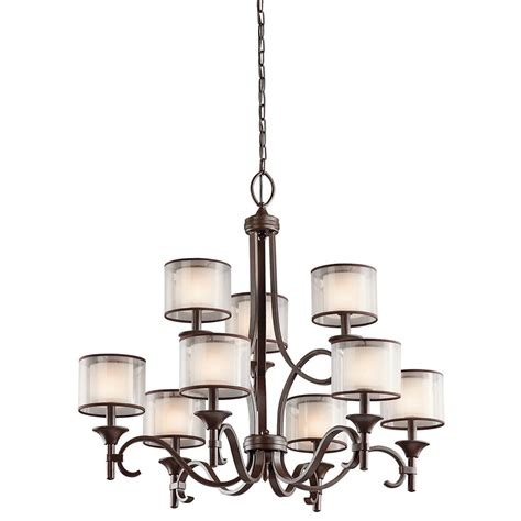 9 light chandelier bronze bronze 9 light chandelier features opal drum shades with