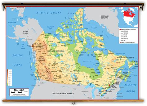 canadian map physical geography maps of canada