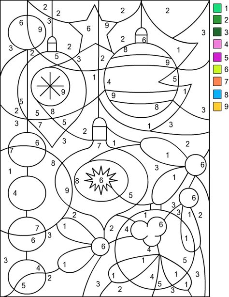 nicole s free coloring pages christmas color by number