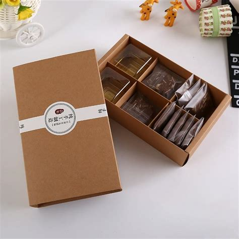 Handmade Gift Packing - brown kraft paper boxes gift craft box drawer style