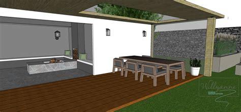 tuinhuis met buitenkeuken tuinhuis met buitenkeuken en open haard en loungegedeelte