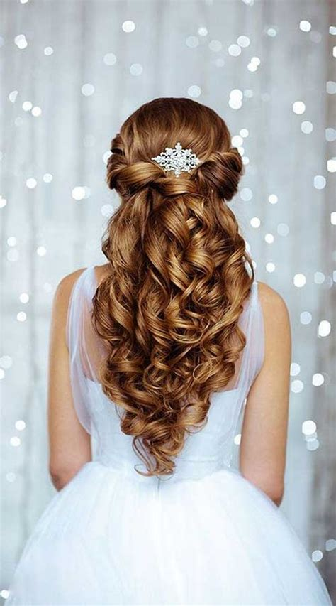 elegant wedding hair style 25 elegant half updo wedding hairstyles crazyforus