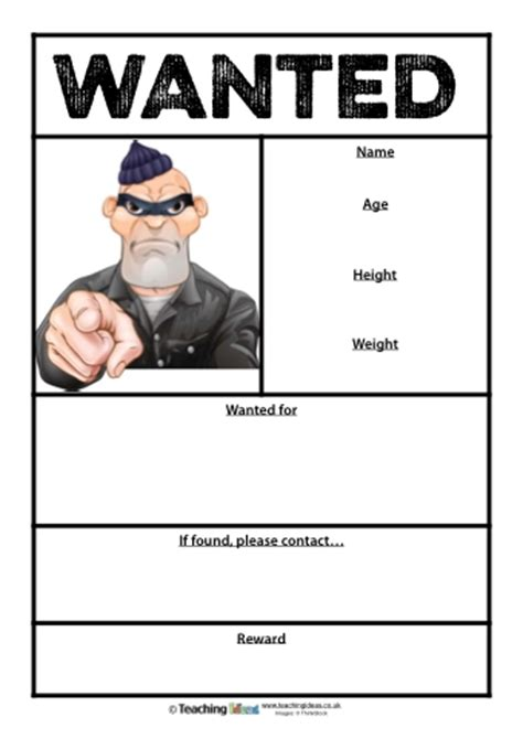 wanted poster book report sle wanted poster book report