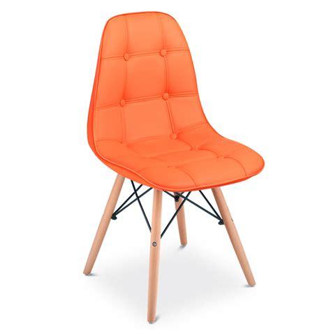 Sedia Arancione by Pack 4 Sedia Da Pranzo Rosso Arancione Bianco Nero Design