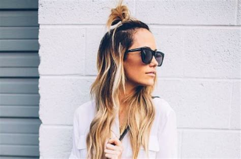 half bun celebrity hairstyles for spring 2015 hairstyles 9 ways to style a half bun well good