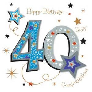 happy 40th birthday greeting card by talking pictures cards kates