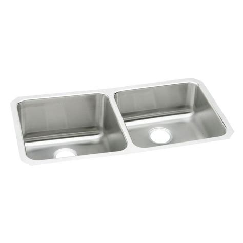 elkay stainless steel sinks elkay lustertone undermount stainless steel 31 in double