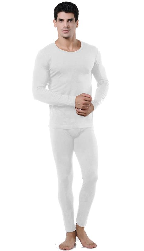 Thermal Set wuhou 174 men s ultra soft microfiber white thermal