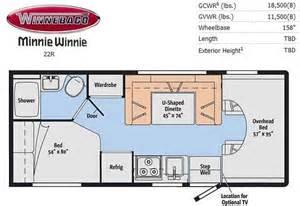 minnie winnie floor plans minnie winnie 22r floor plan winnebago pinterest floor plans and floors