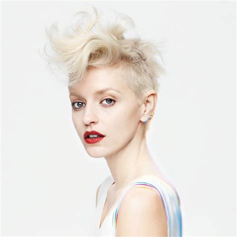 blonde edgy hairstyles salon k short edgy and perfectly blonde