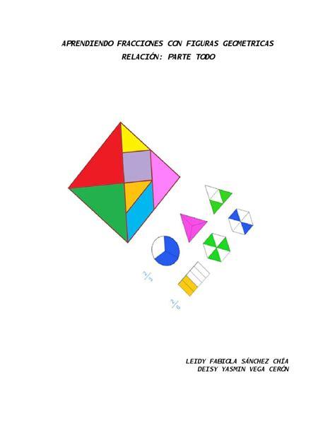 figuras geometricas fracciones fracciones mediante figuras geom 233 tricas by matematicas