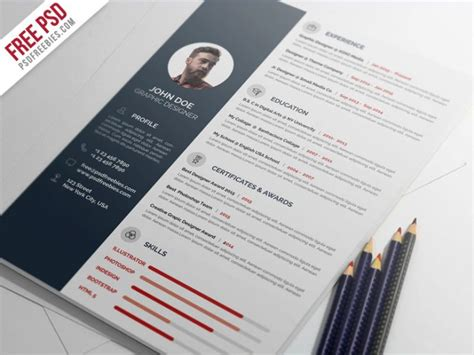 psd template resume december 2014 portfolio cover letter professional resume cv template psd psd