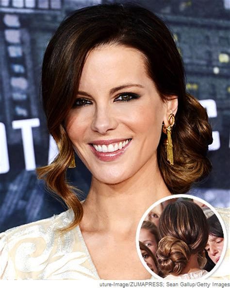 kate beckinsale brings some hollywood style glamour to an easter kate beckinsale s retro side bun leonor greyl usa