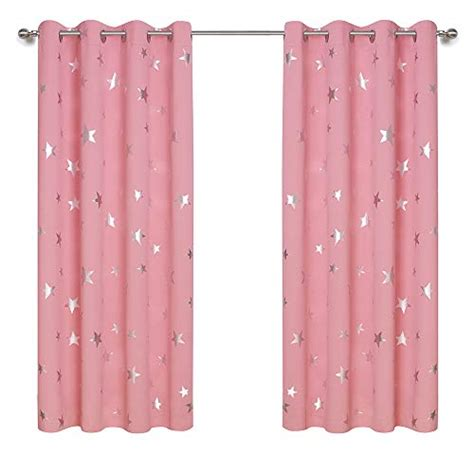 anjee foil print room darkening curtains for