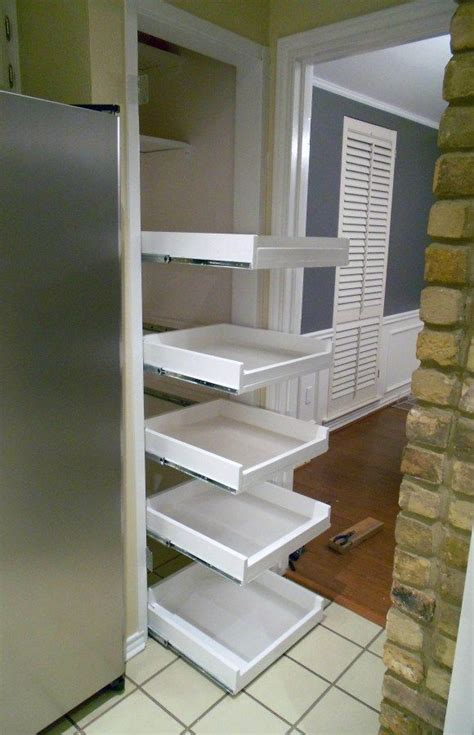 how to build pull out shelves for kitchen cabinets diy tutorial for pull out shelves something i would love