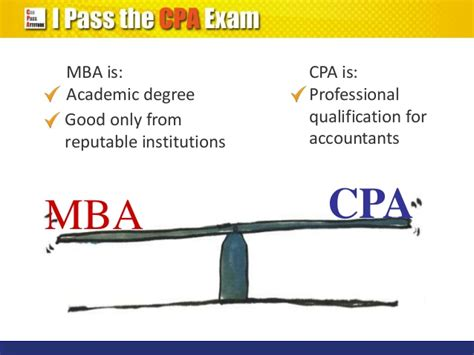 Cpa From Mba by Cpa Qualification Vs Mba Degree Which Is Better