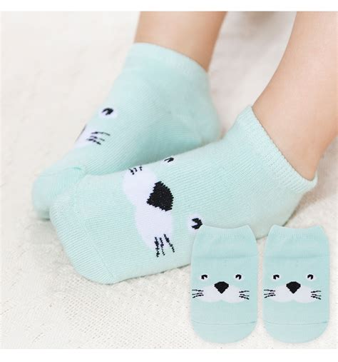 Kaoskaki Socks Anti Slip Baby Socks infant boys toddler baby ankle socks animal