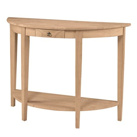 Half Circle Console Table half console table generations home furnishings