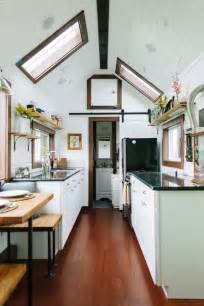 Kitchen Room Interior A Luxury Tiny House On Wheels In Portland Oregon Built By Tiny Heirloom Pricing Starts At
