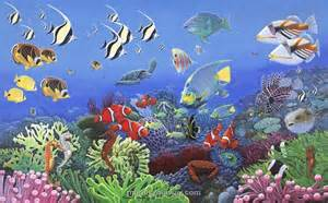 Sea Life Wall Mural Kiddies Pinterest
