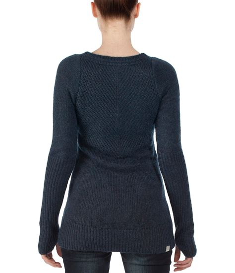 sweater bench bench skipshoots long v neck knit sweater in blue navy