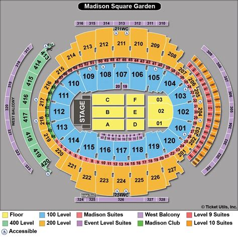 Ticketmaster Square Garden by 26 Beautiful Square Garden Concert Seating Chart