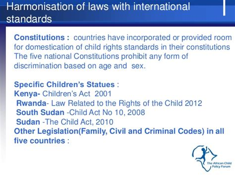 Section 7 Report Children S Act by Africa Child Policy Forum Acpf Research Findings Study