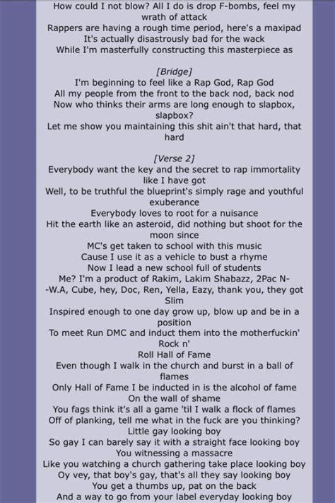 eminem rap god lyrics eminem rap god quot page 2 eminem marshal mathers slim