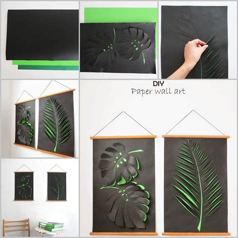 Paper Leaves Craft - paper leaf wall craft pictures photos and images for