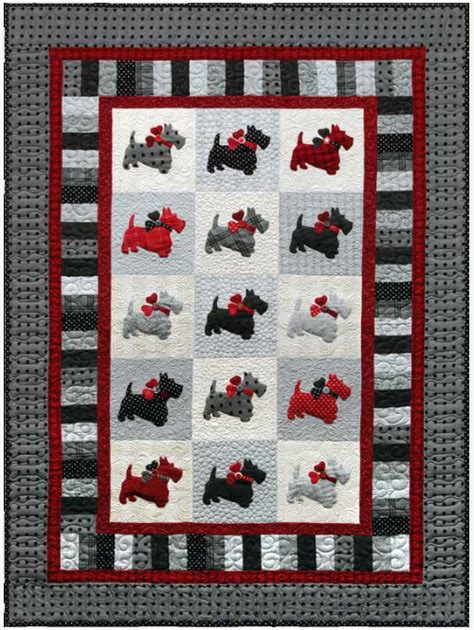 Puppy Quilt Pattern by Scottie Quilt With Dogs Quilting Cubby