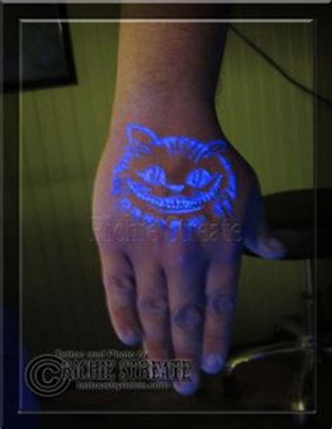 cheshire cat tattoo glow in the dark reddit 1000 images about uv blacklight tattoos by richie streate