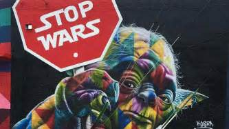 Art Murals For Walls stop wars street artist turns yoda into activist for peace