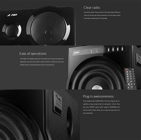 f d fenda f6000u 5 1 home theatre speaker with usb sd