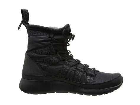 nike roshe run sneaker boot nike roshe run hi sneaker boot black anthracite zappos